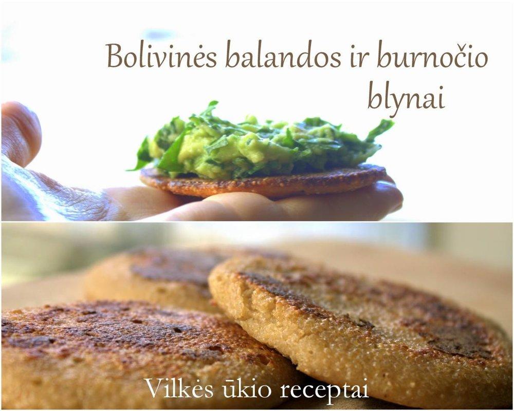 Bolivinės balandos ir burnočio blynai